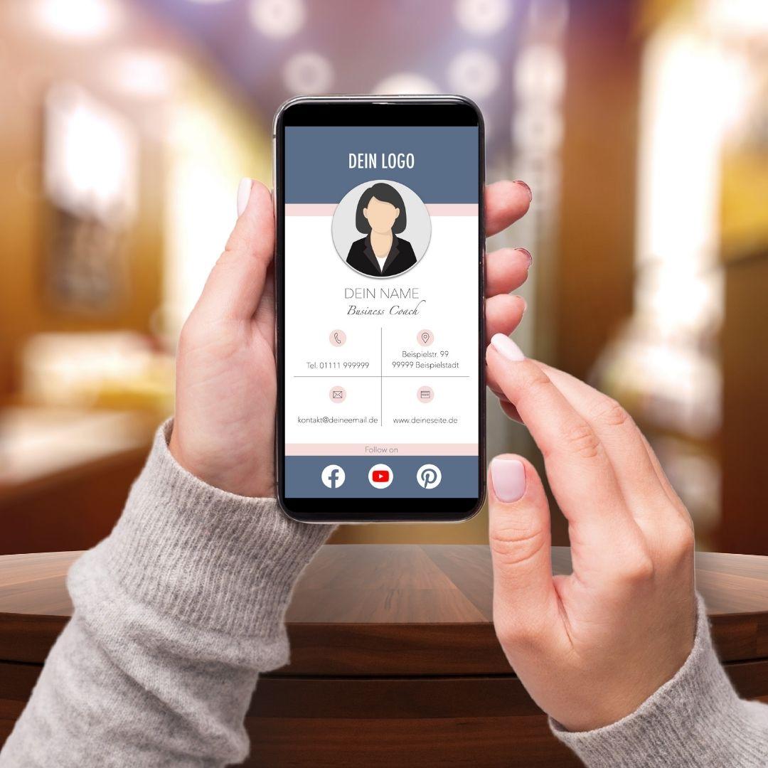 digitale Visitenkarte Template 1