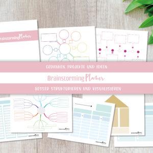Mindmap und Brainstorming Vorlagen - BrainstormingPlaner Set