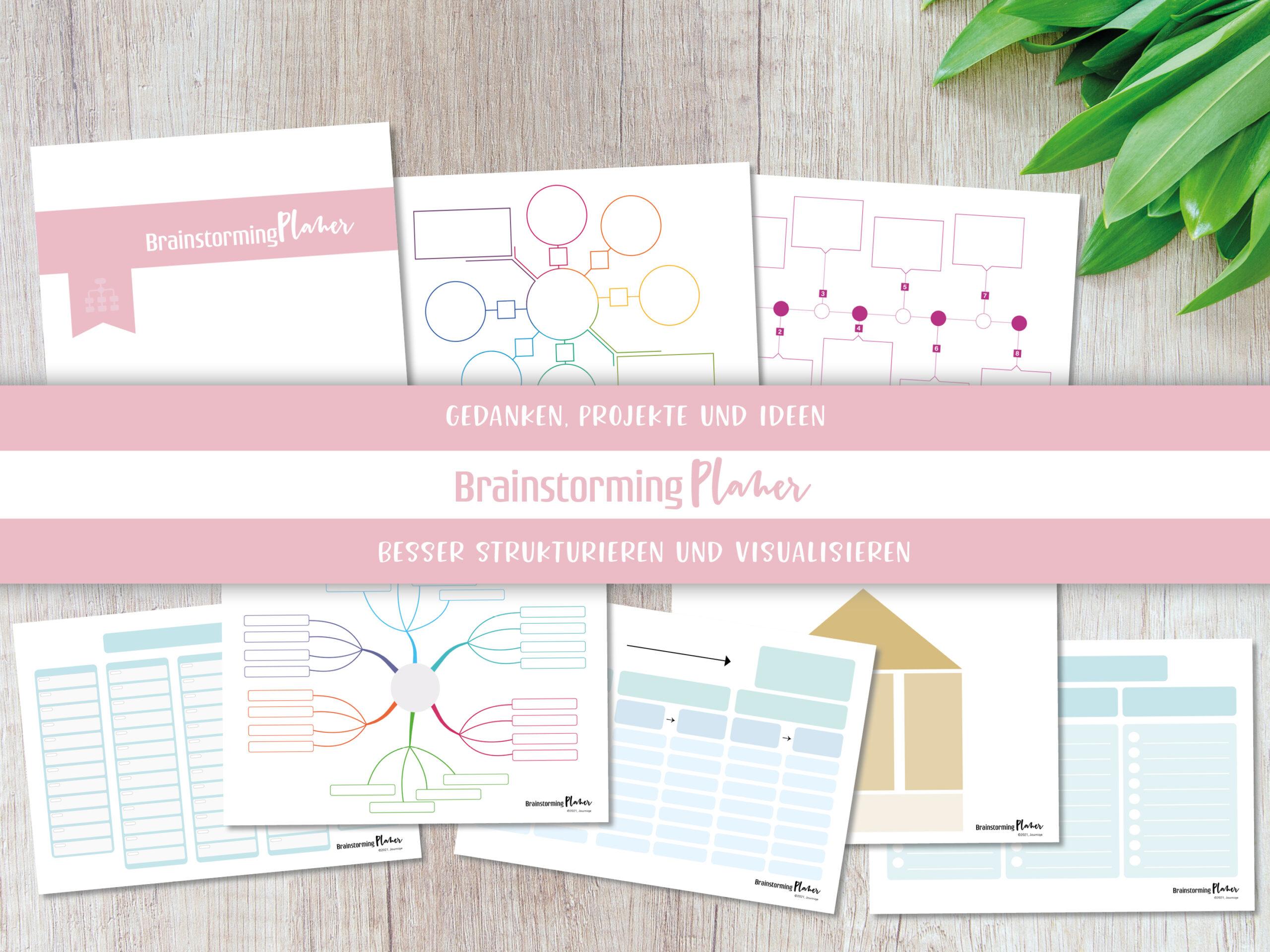 Mindmap und Brainstorming Vorlagen – BrainstormingPlaner Set